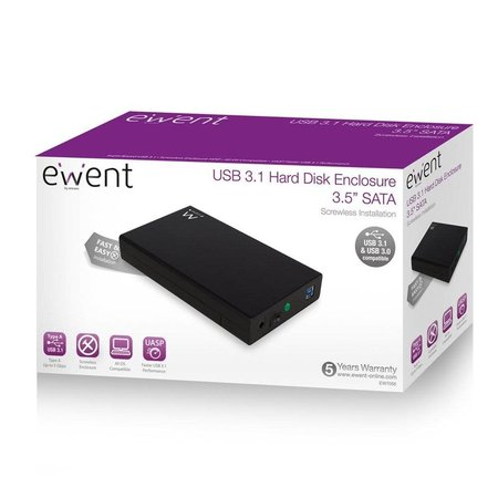 Ewent EW7055 3.5 inch USB 3.1 Harddisk behuizing / case USB SATA