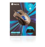 NGS GMX-105 bedraad optical GAMING muis incl. Gaming Muismat