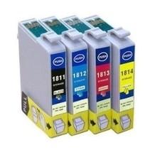 Set Compatible Epson 1816 BK C M Y XL inkt Cartridge Incl. Chip
