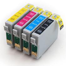 Set Compatible Epson 0715 BK C M Y XL inkt Cartridge Incl. Chip