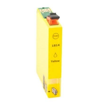 Huismerk Epson T18 ( 1814 ) Yellow  inkt Cartridge Incl. Chip