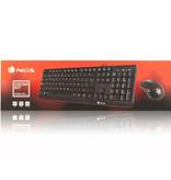 NGS Cocoa Kit - Toetsenbord - Keyboard - bedraad- met muis -USB - QWERTY Zwart