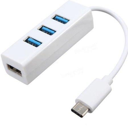USB-C ( usb 3.1 ) naar USB 3.0 4 poort hub