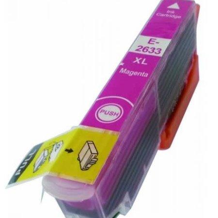 Huismerk Epson T26 XL ( 2633 ) Magenta  inkt Cartridge Incl. Chip