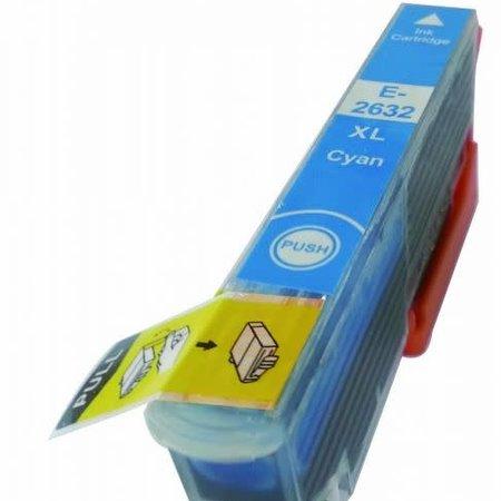 Huismerk Epson T26 XL ( 2632 ) Cyan  inkt Cartridge Incl. Chip