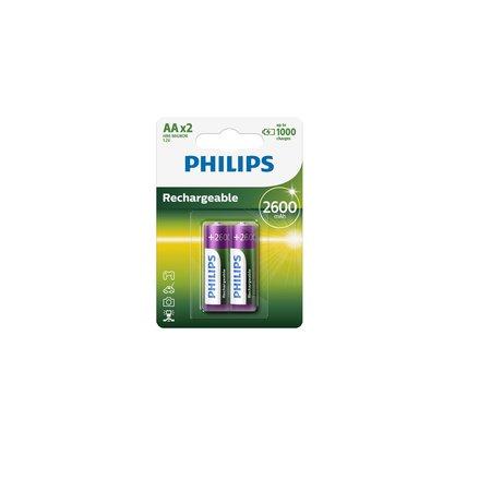 Philips R6B2A260 oplaadbare AA batterijen 2 stuks