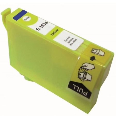 Huismerk Epson T16 ( 1634 ) Yellow  inkt Cartridge Incl. Chip