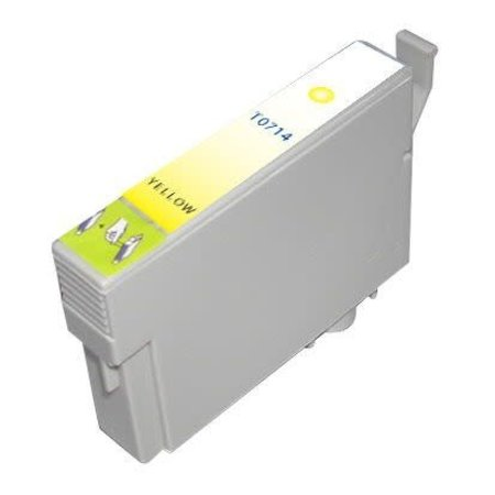 Huismerk Epson T0714 Yellow Compatible Inkt Cartridge Incl. Chip