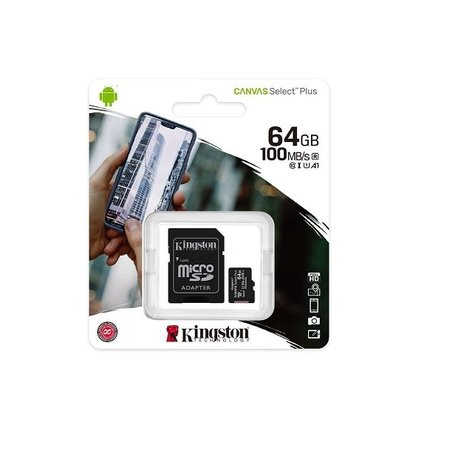 Kingston 64Gb A1 100Mb/s Micro SDHC card incl. adapter