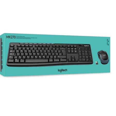 Logitech MK270 Wireless toetsenbord en muis