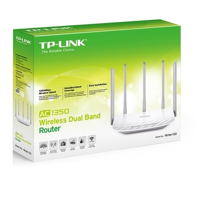 TP-Link AC1350 Dual-band C60 Ethernet Wit Wireless Gigabit Router