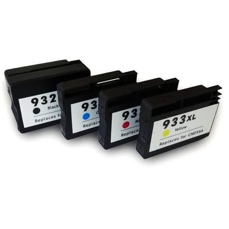 Huismerk HP 932 BK + 933 C M Y XL inkt Cartridge Incl. Chip SET