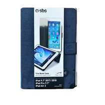Trio Book Case iPad 2017 2018 9.7 Blauw