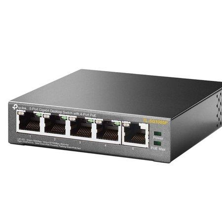 TP-Link TL-SG1005P 5-port Metal Gigabit Switch