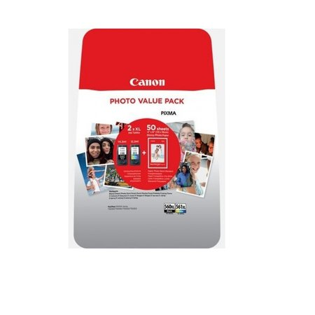 Canon Canon 560 BK XL + 561 Color XL Set inkt Cartridge
