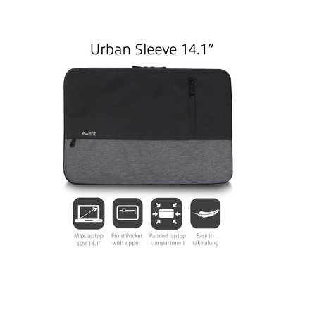 Ewent EW2530 City Sleeve 14.1inch Black
