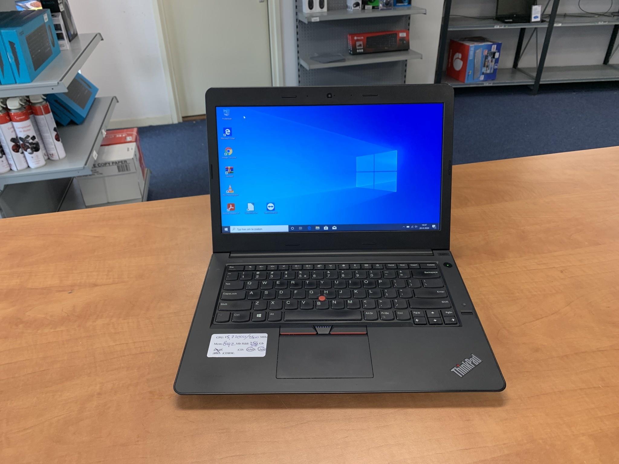 Lenovo Thinkpad E470 I5 8Gb 256Gb SSD 14 inch W10P laptop