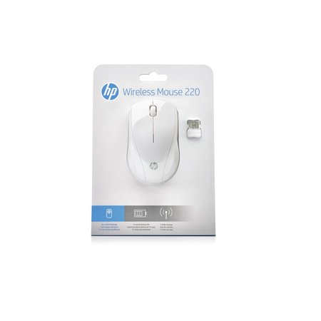 HP 220 Wireless Mouse Snow White