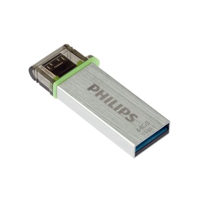 Philips 64Gb 3.0 USB stick & MicroUSB aansluiting