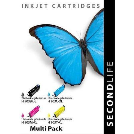 Huismerk HP 903BK C M Y XL set inkt Cartridge Incl. Chip