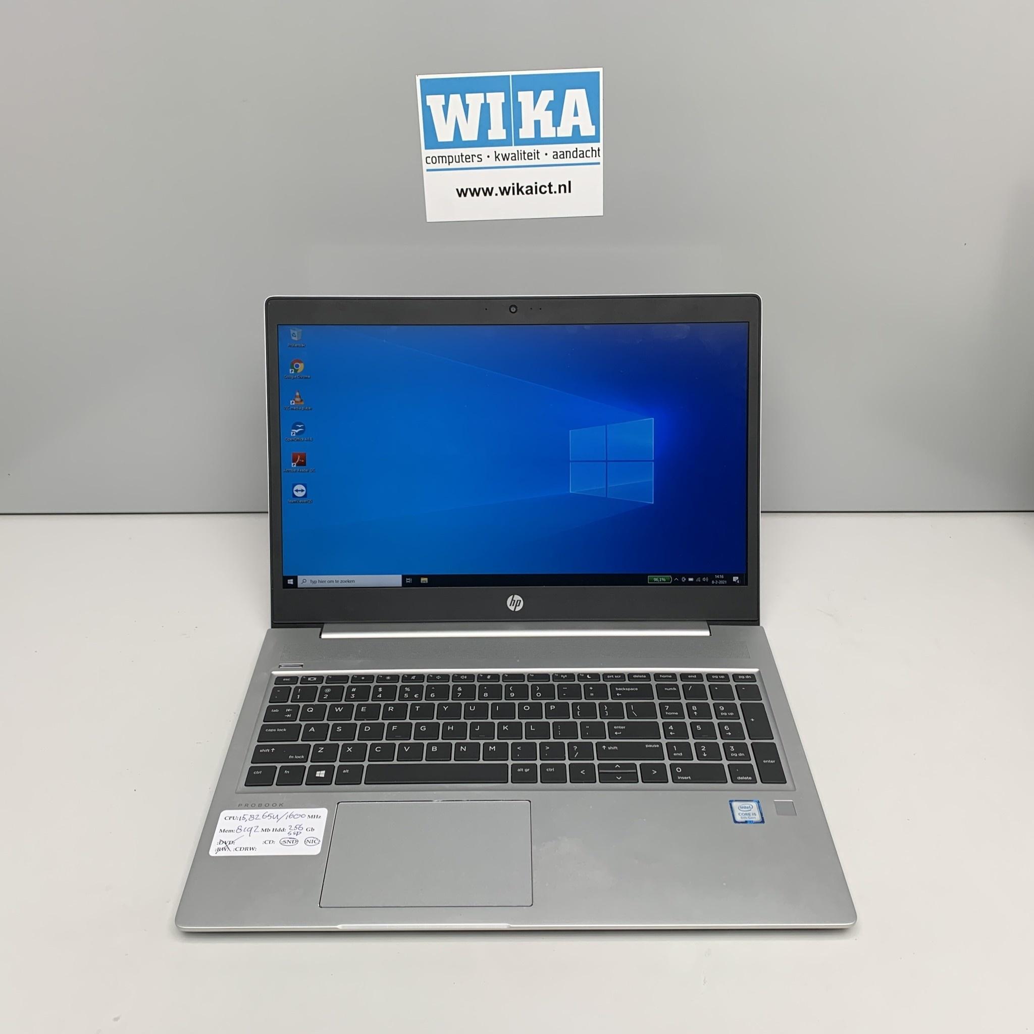 HP Probook 450 G6 Core i5 8Gb 256gb SSD 15.6 W10p laptop