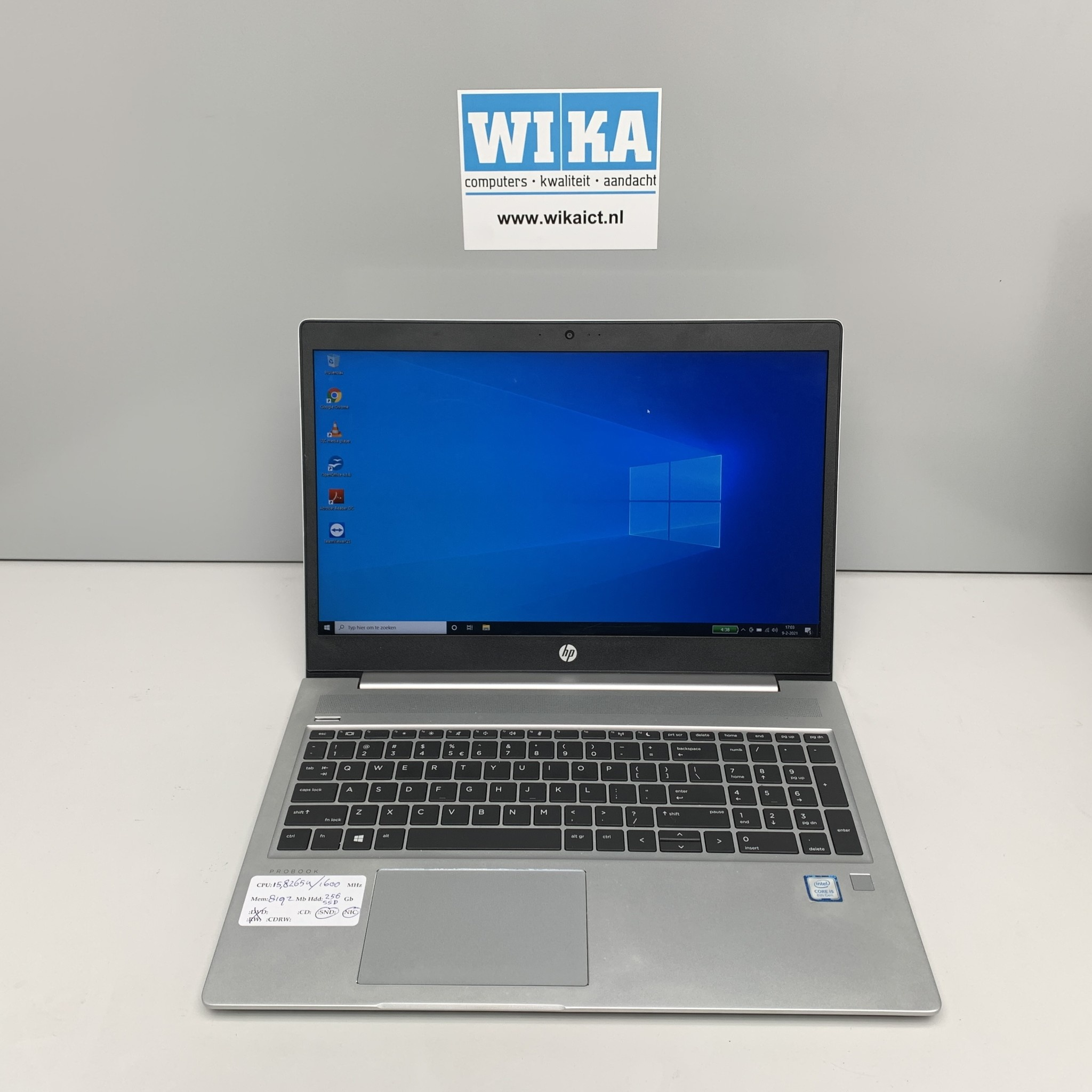 HP Probook 450 G6 Core i5 8Gb 256gb SSD 15.6 W10p laptop