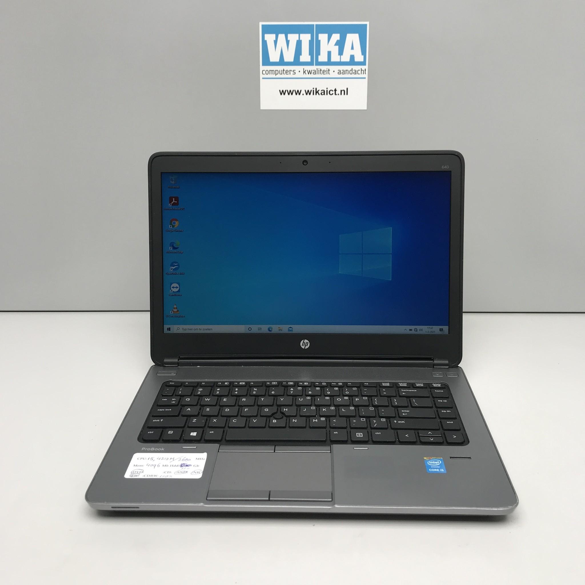 HP Probook 640 G1 Core i5 4Gb 128gb ssd 14.1 W10p laptop