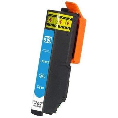 Huismerk Epson T33 XL (3362) Cyan inkt Cartridge Incl. Chip