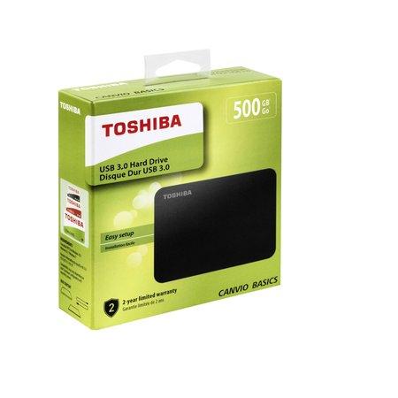 Toshiba Canvio 500GB Externe USB 3.0 Harddisk