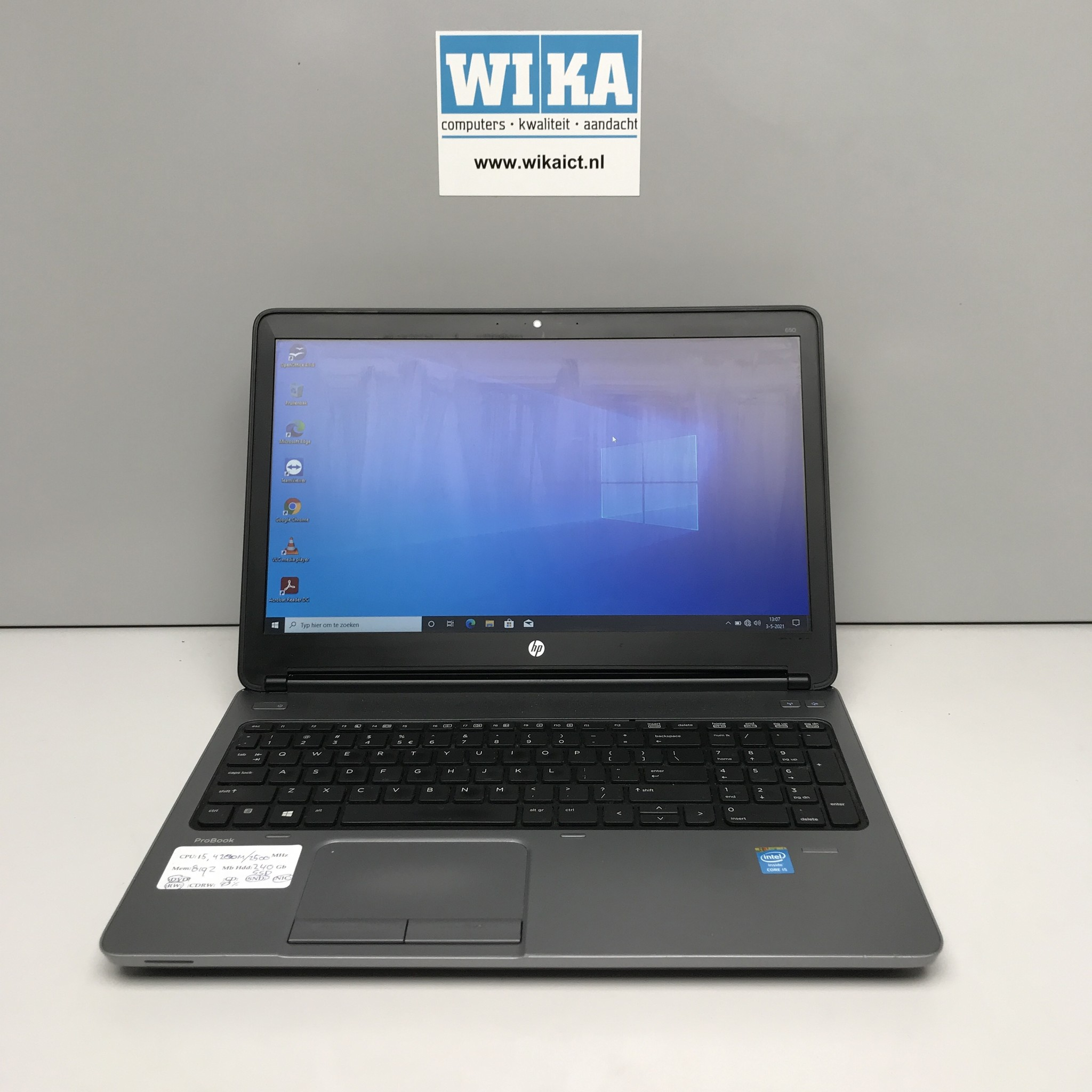 HP Probook 650 G1 i5-4200M 8Gb 240 gb SSD 15.6 laptop