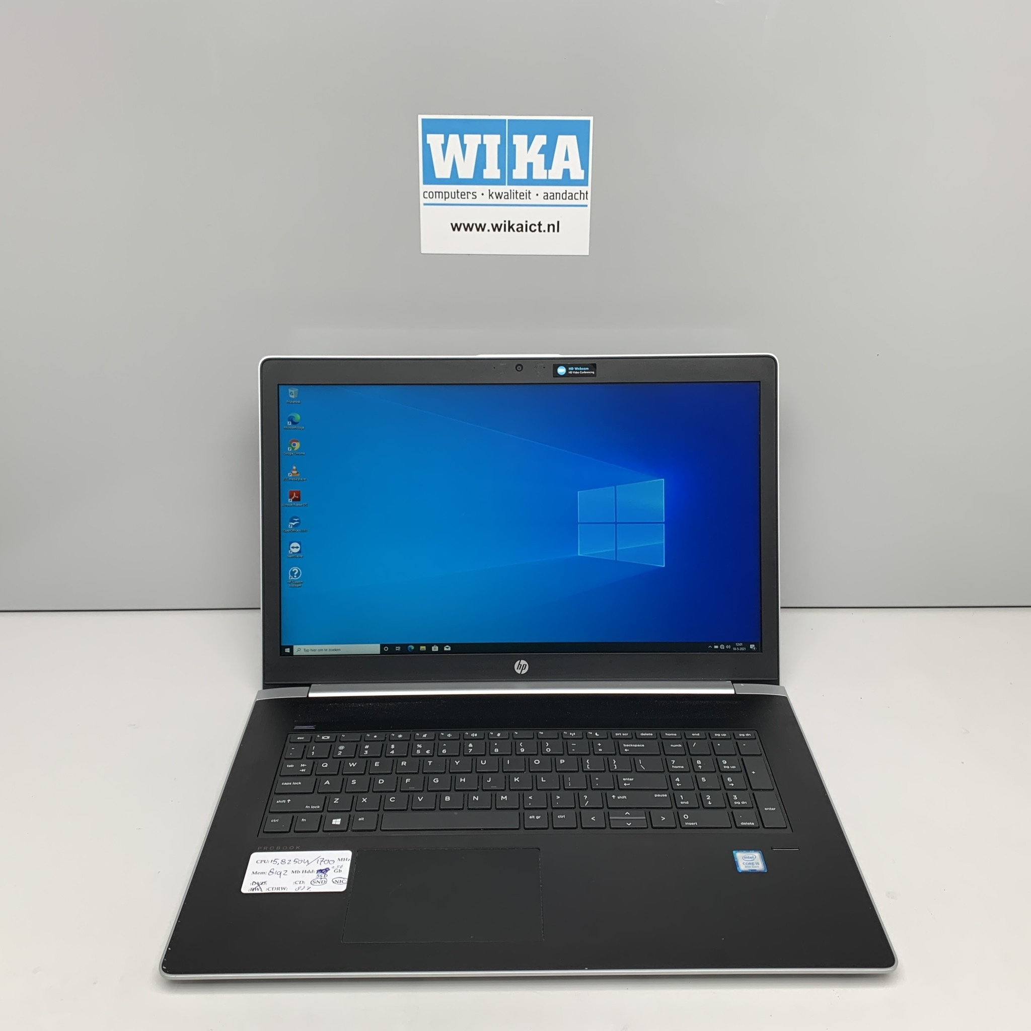 HP Probook 470 G5 I5-8250U 1.6Ghz 8Gb 256Gb SSD 17.3 inch  W10p laptop