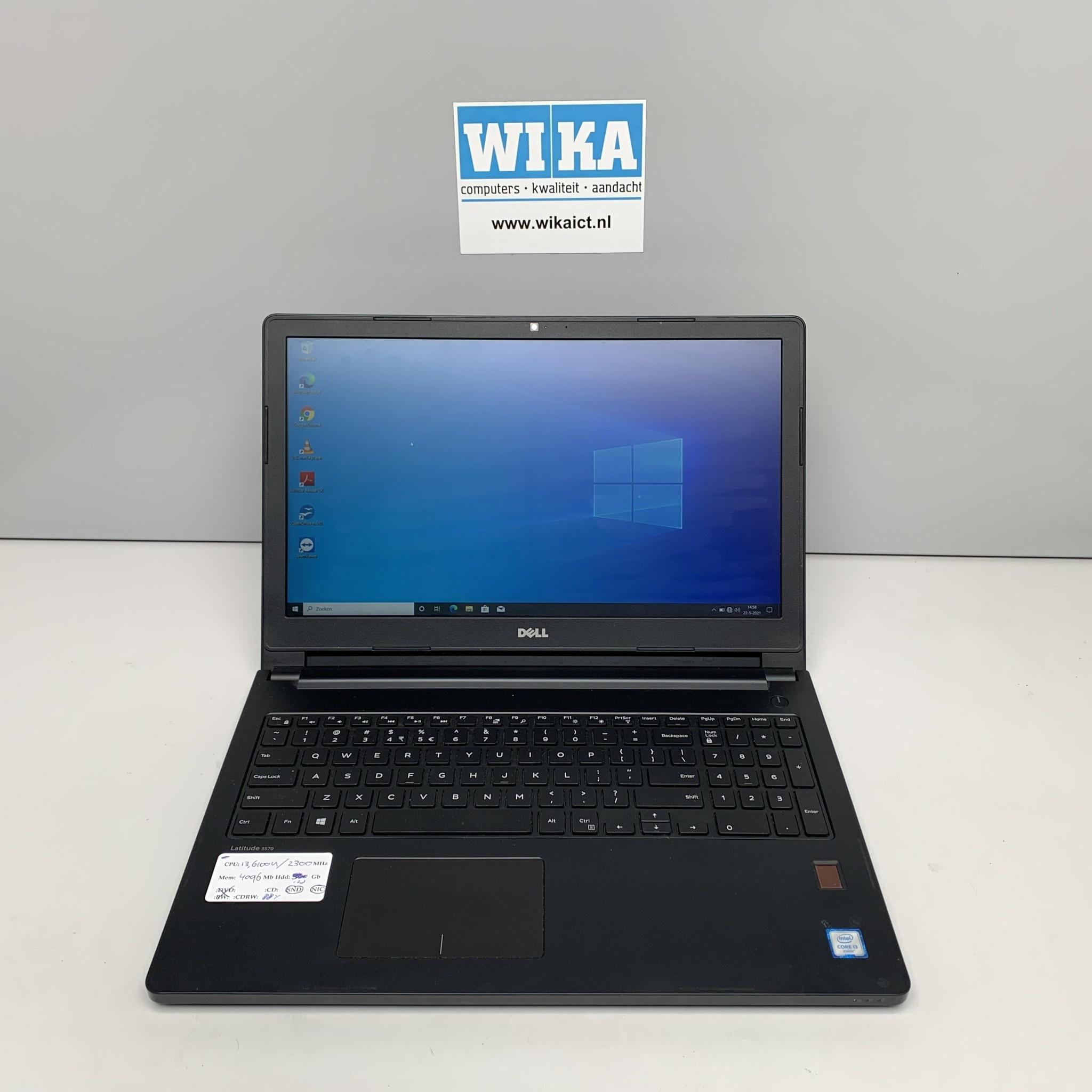 Dell Latitude 3570 i3-6100U 2.3Ghz 4Gb 128Gb SSD 15.6 Win 10p  laptop