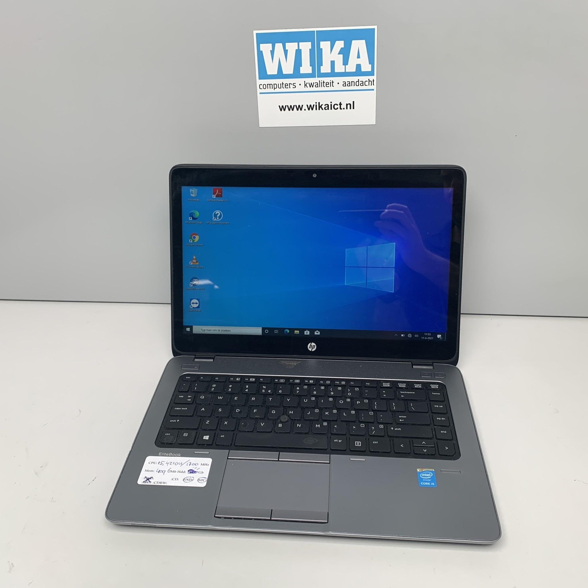 HP Elitebook 840 G1 i5 4Gb SSD 14.1 inch touch W10P laptop