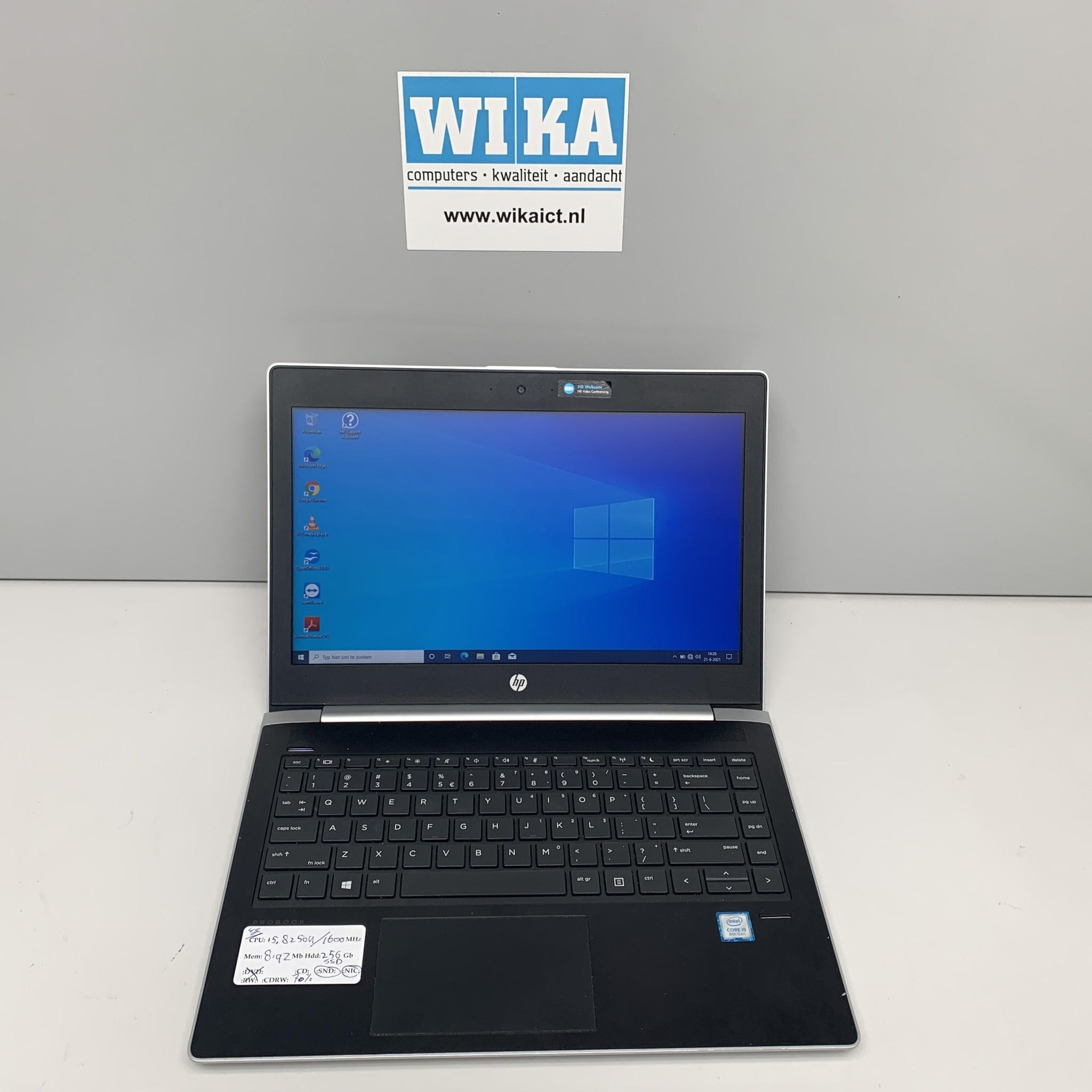 HP Probook 430 G5 I5 8Gb 256Gb SSD 13.3 inch  W10p laptop