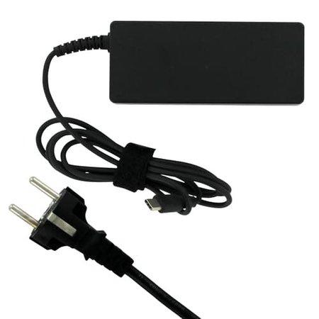 Replacement Laptop USB-C AC Adapter oplader 65W Zwart