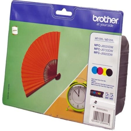 Brother Origineel LC129 set BK C M Y XL inkt Cartridge Incl. Chip