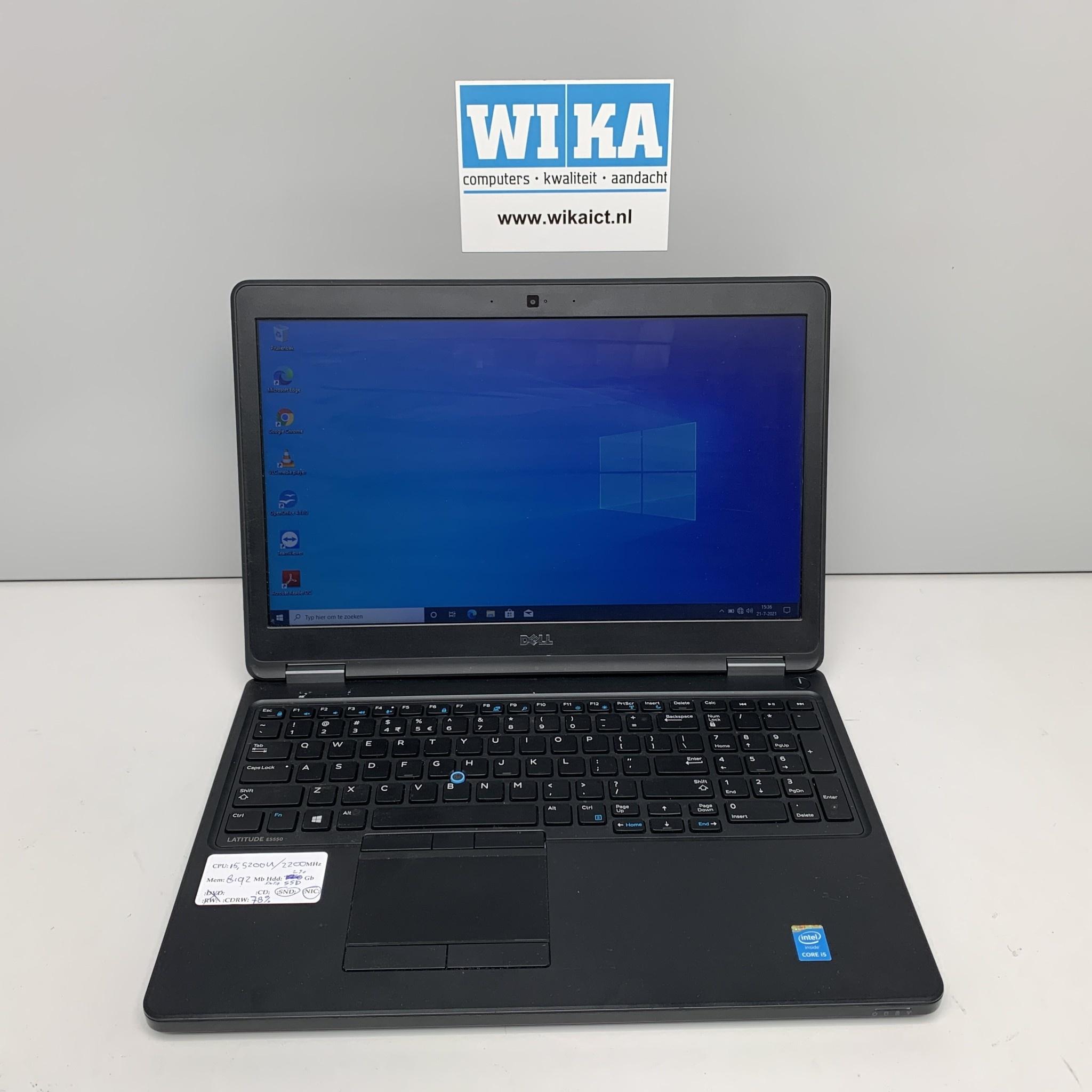 Dell Latitude E5550 i5 8Gb SSD 15.6 W10p laptop