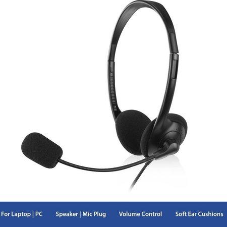 Ewent EW3563 Headset 2x 3.5mm Jack 2,1m zwart Headphone koptelefoon