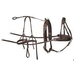 Kieffer Einspänner Geschirr Leder Braun Pony
