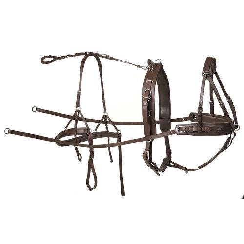 Kieffer Kieffer Einspänner Geschirr Leder Braun Pony