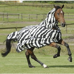 Bucas Buzz-Off Full Neck Zebra Pony