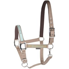 Harry's Horse Halfterset Band Taupe Grau
