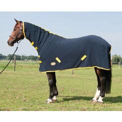 Harry's Horse Fleecedeken Oakville Total Eclipse met hals