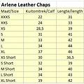 Kieffer Kieffer Arlene schwarz Lederchaps XS und L