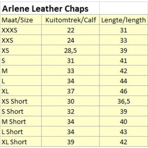 Kieffer Kieffer Arlene schwarz Lederchaps XS