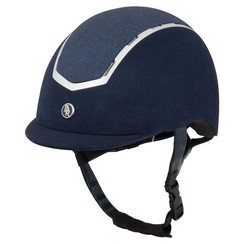 BR Riding helmet Sigma microfiber with glitter top
