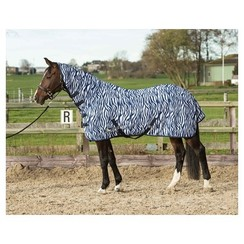 Harry's Horse Flysheet with mesh webbing neck and medieval blue