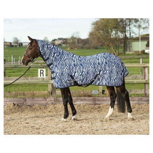 Harry's Horse Harry's Horse Vliegendeken Mesh met hals en singels medieval blue