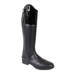 QHP leather riding boot Marcella youth standard and wide calf size