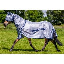 Bucas Buzz-Off Full Neck Blue Pony